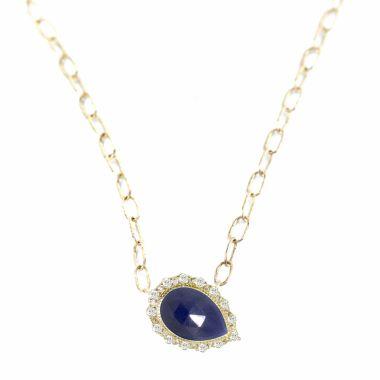 Nina Nguyen Designs Melinda Lace Pave Gold Necklace