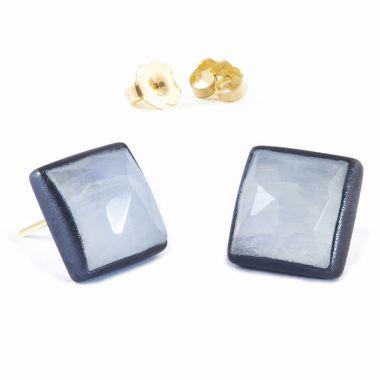 Nina Nguyen Designs Spirit Gold & Oxidized Studs