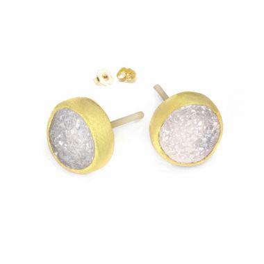 Nina Nguyen Designs Petal Vermeil Yellow Studs
