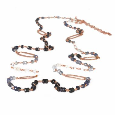 Nina Nguyen Designs Spectrum Vermeil Rose Necklace