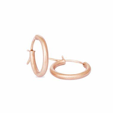 Nina Nguyen Designs X-Small 18mm Vermeil Rose Hoops