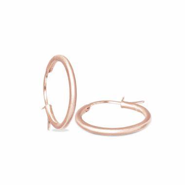 Nina Nguyen Designs Small 25mm Vermeil Rose Hoops
