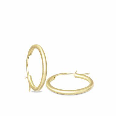 Nina Nguyen Designs Small 25mm Vermeil Yellow Hoops