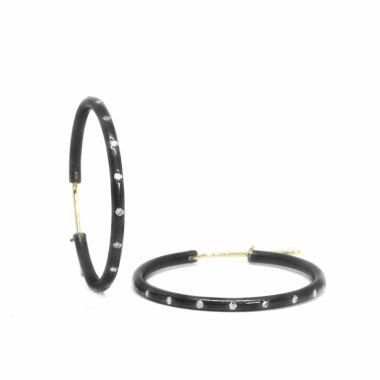 Nina Nguyen Designs Medium 30mm Gold & Oxidized Hoops