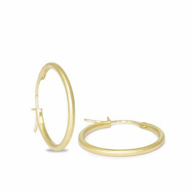Nina Nguyen Designs Medium 30mm Vermeil Yellow Hoops