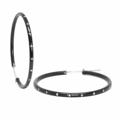 Nina Nguyen Designs X-Large 40mm Oxidized Hoops