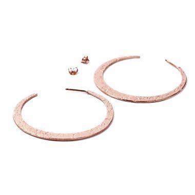 Nina Nguyen Designs Crescent LRG Vermeil Rose Hoops